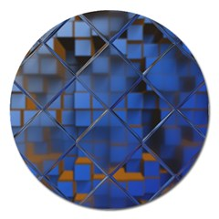 Glass Abstract Art Pattern Magnet 5  (round) by Nexatart