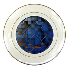 Glass Abstract Art Pattern Porcelain Plates by Nexatart