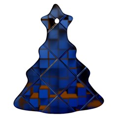 Glass Abstract Art Pattern Ornament (christmas Tree)