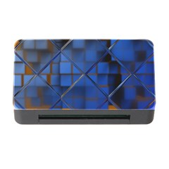 Glass Abstract Art Pattern Memory Card Reader With Cf
