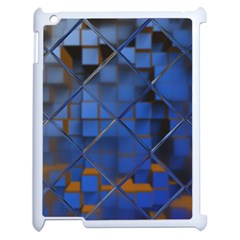 Glass Abstract Art Pattern Apple Ipad 2 Case (white) by Nexatart