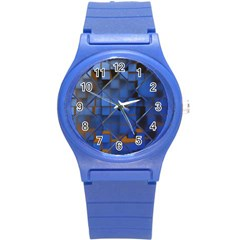 Glass Abstract Art Pattern Round Plastic Sport Watch (s) by Nexatart