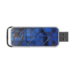 Glass Abstract Art Pattern Portable Usb Flash (one Side)