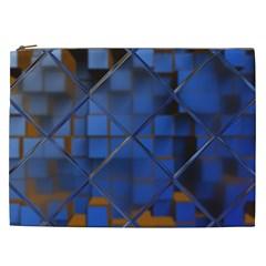 Glass Abstract Art Pattern Cosmetic Bag (xxl)  by Nexatart