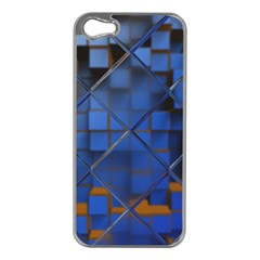 Glass Abstract Art Pattern Apple Iphone 5 Case (silver) by Nexatart
