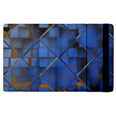 Glass Abstract Art Pattern Apple Ipad 2 Flip Case by Nexatart