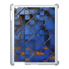 Glass Abstract Art Pattern Apple Ipad 3/4 Case (white) by Nexatart
