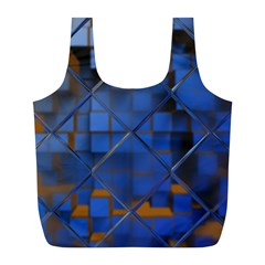Glass Abstract Art Pattern Full Print Recycle Bags (l)