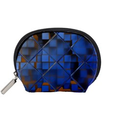 Glass Abstract Art Pattern Accessory Pouches (small)