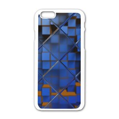 Glass Abstract Art Pattern Apple Iphone 6/6s White Enamel Case by Nexatart