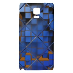 Glass Abstract Art Pattern Galaxy Note 4 Back Case by Nexatart