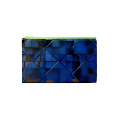 Glass Abstract Art Pattern Cosmetic Bag (xs)