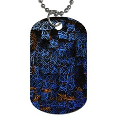 Background Abstract Art Pattern Dog Tag (two Sides)