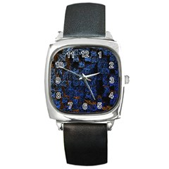Background Abstract Art Pattern Square Metal Watch by Nexatart