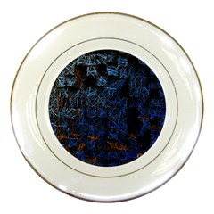 Background Abstract Art Pattern Porcelain Plates by Nexatart