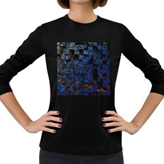 Background Abstract Art Pattern Women s Long Sleeve Dark T Shirts