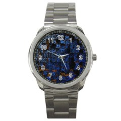 Background Abstract Art Pattern Sport Metal Watch by Nexatart