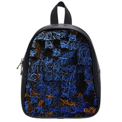 Background Abstract Art Pattern School Bags (small)  by Nexatart