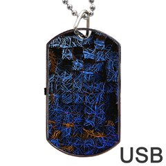 Background Abstract Art Pattern Dog Tag Usb Flash (two Sides) by Nexatart