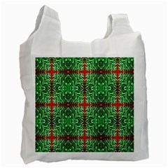 Geometric Seamless Pattern Digital Computer Graphic Recycle Bag (two Side)