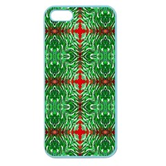 Geometric Seamless Pattern Digital Computer Graphic Apple Seamless Iphone 5 Case (color) by Nexatart