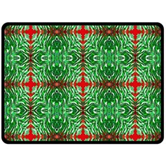 Geometric Seamless Pattern Digital Computer Graphic Double Sided Fleece Blanket (large)  by Nexatart