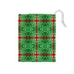 Geometric Seamless Pattern Digital Computer Graphic Drawstring Pouches (medium)