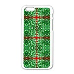 Geometric Seamless Pattern Digital Computer Graphic Apple iPhone 6/6S White Enamel Case Front