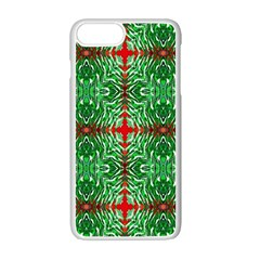 Geometric Seamless Pattern Digital Computer Graphic Apple Iphone 7 Plus White Seamless Case by Nexatart
