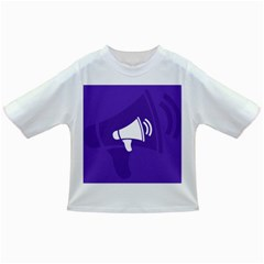 Announce Sing White Blue Infant/toddler T Shirts by Mariart