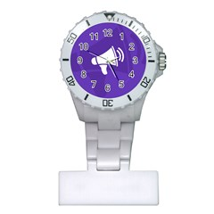 Announce Sing White Blue Plastic Nurses Watch by Mariart