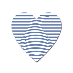 Animals Illusion Penguin Line Blue White Heart Magnet by Mariart