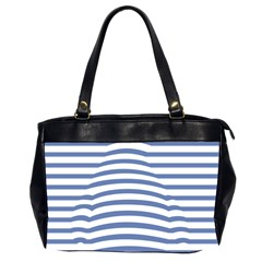 Animals Illusion Penguin Line Blue White Office Handbags (2 Sides)  by Mariart