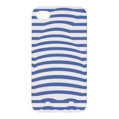 Animals Illusion Penguin Line Blue White Apple Iphone 4/4s Hardshell Case by Mariart