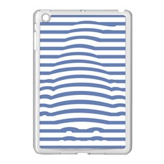 Animals Illusion Penguin Line Blue White Apple iPad Mini Case (White) by Mariart