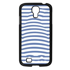 Animals Illusion Penguin Line Blue White Samsung Galaxy S4 I9500/ I9505 Case (black) by Mariart
