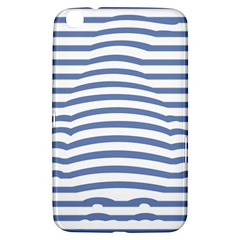 Animals Illusion Penguin Line Blue White Samsung Galaxy Tab 3 (8 ) T3100 Hardshell Case  by Mariart
