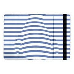 Animals Illusion Penguin Line Blue White Samsung Galaxy Tab Pro 10 1  Flip Case by Mariart