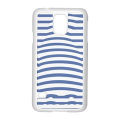 Animals Illusion Penguin Line Blue White Samsung Galaxy S5 Case (white) by Mariart