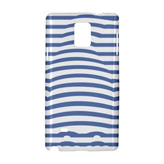 Animals Illusion Penguin Line Blue White Samsung Galaxy Note 4 Hardshell Case by Mariart