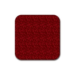 Bicycle Guitar Casual Car Red Rubber Square Coaster (4 Pack)  by Mariart