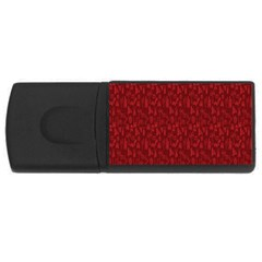 Bicycle Guitar Casual Car Red Usb Flash Drive Rectangular (4 Gb) by Mariart