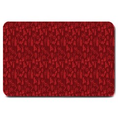 Bicycle Guitar Casual Car Red Large Doormat  by Mariart
