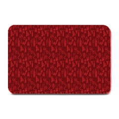Bicycle Guitar Casual Car Red Plate Mats by Mariart