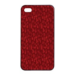 Bicycle Guitar Casual Car Red Apple Iphone 4/4s Seamless Case (black) by Mariart