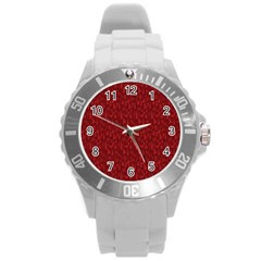 Bicycle Guitar Casual Car Red Round Plastic Sport Watch (l) by Mariart