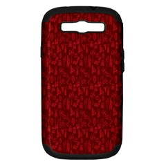Bicycle Guitar Casual Car Red Samsung Galaxy S Iii Hardshell Case (pc+silicone) by Mariart