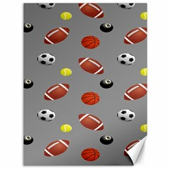 Balltiled Grey Ball Tennis Football Basketball Billiards Canvas 36  X 48   by Mariart