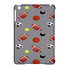 Balltiled Grey Ball Tennis Football Basketball Billiards Apple Ipad Mini Hardshell Case (compatible With Smart Cover) by Mariart