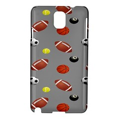 Balltiled Grey Ball Tennis Football Basketball Billiards Samsung Galaxy Note 3 N9005 Hardshell Case by Mariart